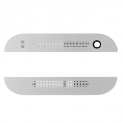 Silver Blue Front Top and Bottom Face Cover Replacement Part For HTC One Mini 2