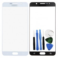 New Black Front Outer Screen Glass Lens Replacement For Samsung Note 5 Series