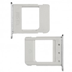 White Nano Sim Card Tray Holder Silver Replacement For Samsung Note 5 Series