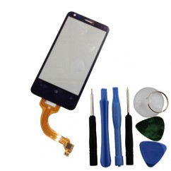 Digitizer Touch Screen w/ FRAME Front Glass Free Tools For Nokia Lumia 620